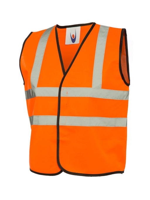 Childrens Hi-Vis Waist Coat Orange UC806OR (SINGLE OR MULTI-PACK)