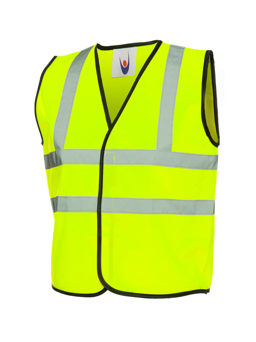 Childrens Hi-Vis Waist Coat Yellow UC806YW (SINGLE OR MULTI-PACK)