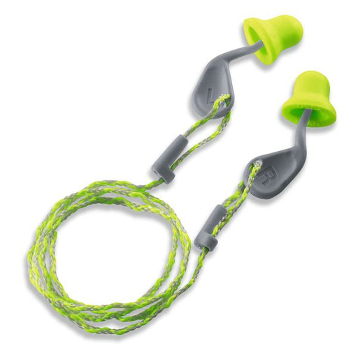 Uvex Xact-Fit Corded Ear Plug Green 2124-001 (PACK OF 50)