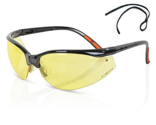 (BOX OF 10) Yellow High Performance Lens Safety Spectacle ZZ0020Y