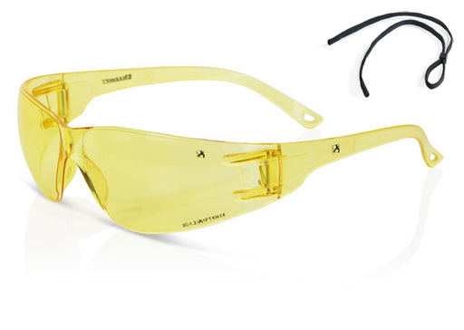 (BOX OF 10) Yellow Performance Wrap Around Spectacle ZZ0090Y