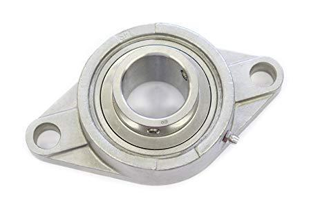 "SSUCFL205-16-1""-Stainless-Steel-2-Bolt-Oval-Flange-Housed-Bearing"