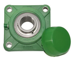 "SUC-FPL201-8-1/2""-Thermoplastic-Square-Flange-Bearing-with-Stainless-Steel-Insert"