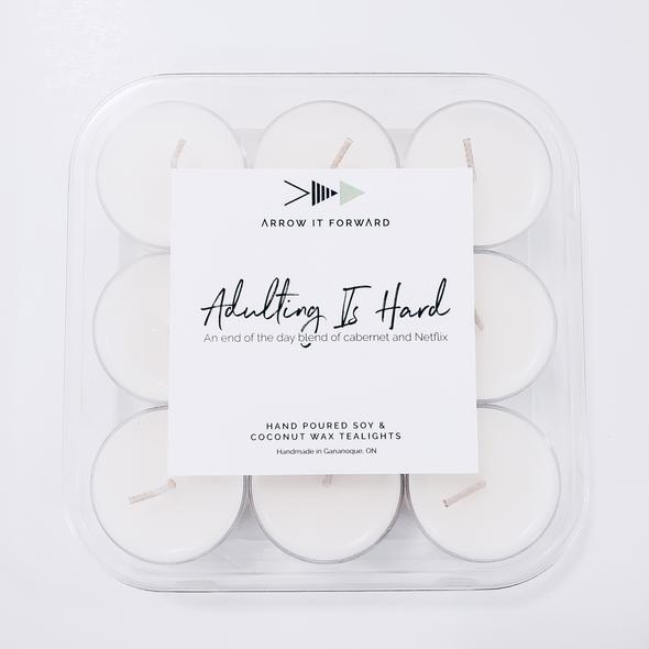 Adulting Is Hard Tea Lights (Set of 9)