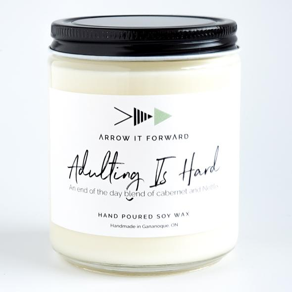 Adulting Is Hard Candle