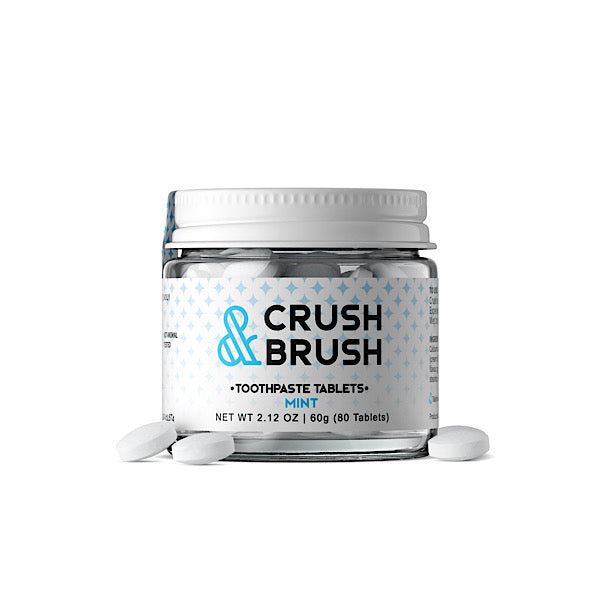 Crush & Brush Toothpaste Tablets - Glass
