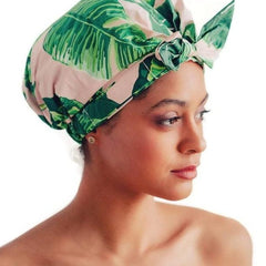Luxe Shower Cap - Palm
