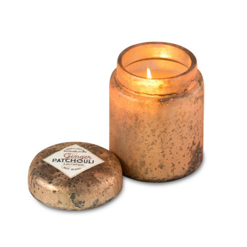Mountain Fire Glass Candle - Ginger Patchouli