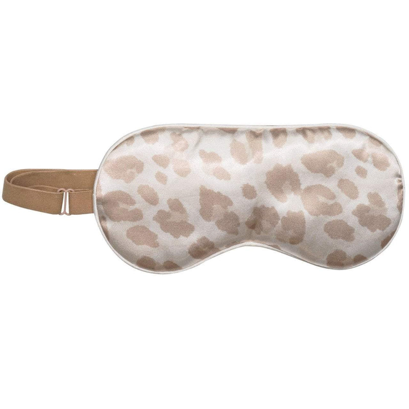 Adjustable Satin Sleep Mask - Leopard