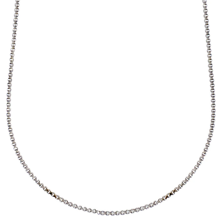Nancy Chain Necklace Long Silver