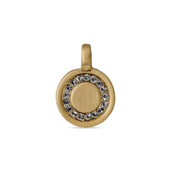Crystal Circle Charm Gold