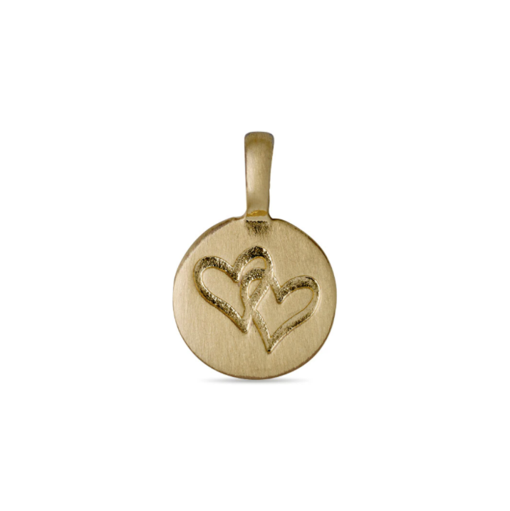 Double Hearts Charm Gold