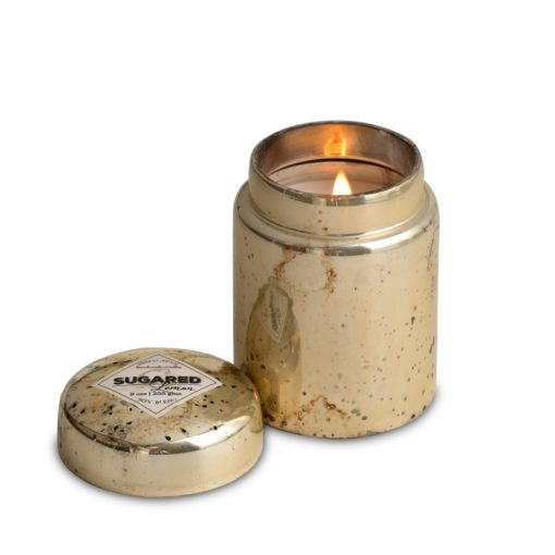 Mountain Fire Glass Candle - Sugared Lemon