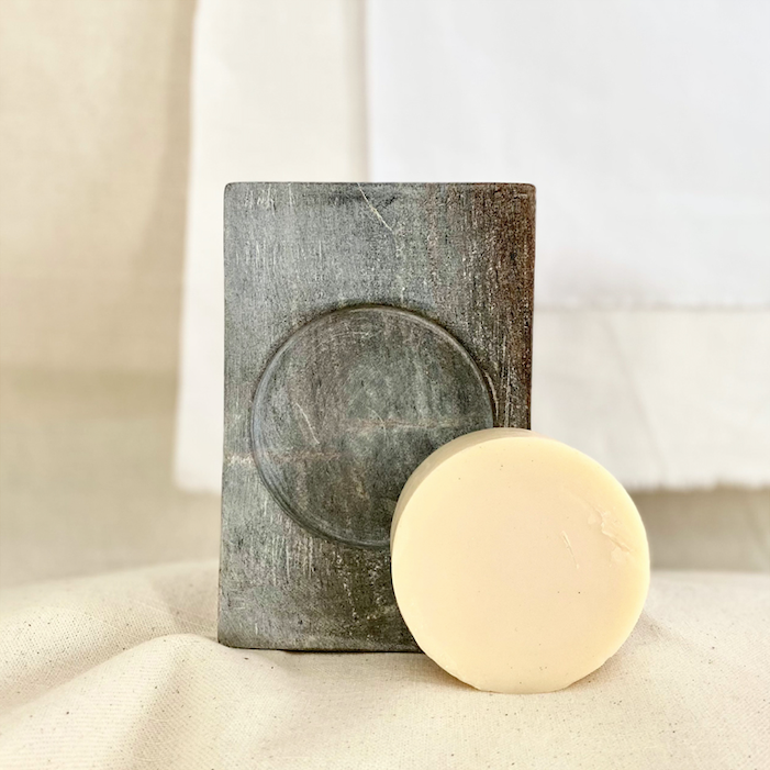 Soapstone Soap Dish (For Round Soap)
