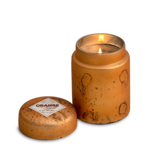 Mountain Fire Glass Candle - Orange Grove