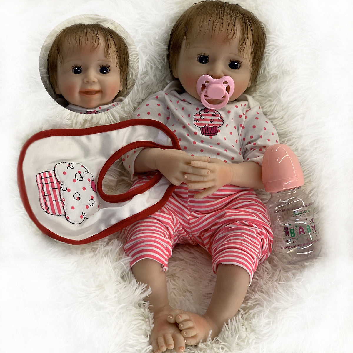 "🔥Limitied Time🔥20"" Acestar Reborn Baby Doll-Red spotted puffs"