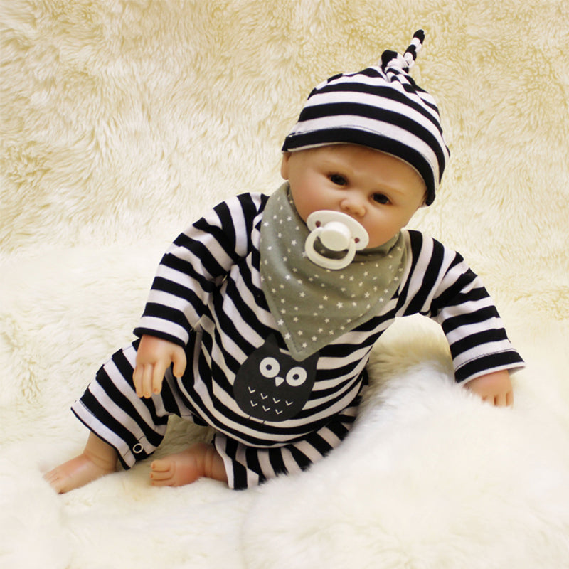 "🔥Limitied Time🔥20"" Acestar Reborn Baby Doll-Black and white barred owl"