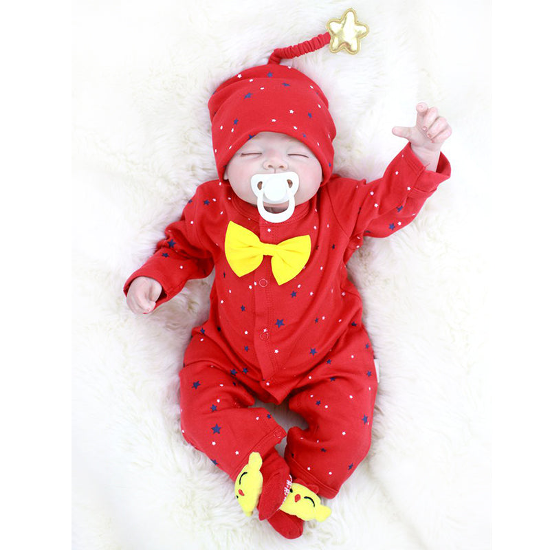 "🔥Limitied Time🔥22"" Acestar Reborn Baby Doll-RED STAR"