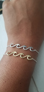 Multi Wave bracelet - Silver and 2 tone