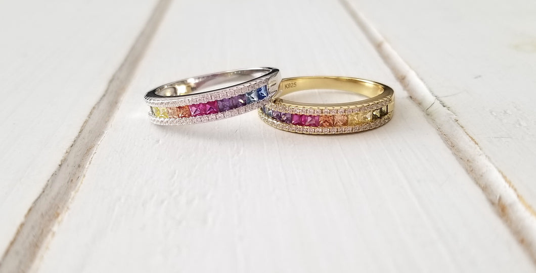 Rainbow Ring - Silver & Gold