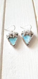 Trillion Larimar Starfish Earrings