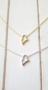 Maine Map Necklace - Outline
