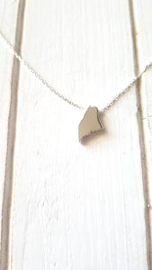 Maine Map Necklace
