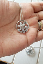 Load image into Gallery viewer, Knobby Starfish Pendant with Blue Topaz