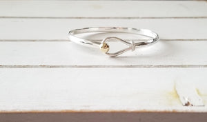 Hook Bangle - Hi Polished