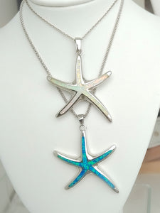 Large Opal Starfish necklace