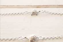 Load image into Gallery viewer, Turtle Anklet - 3 turtles