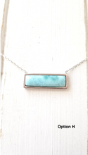 Load image into Gallery viewer, Larimar Bar necklace - 925 Sterling Silver