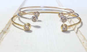 Double CZ Bangle - 3 colors available