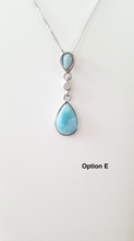 Load image into Gallery viewer, Teardrop & CZ pendant