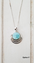 Load image into Gallery viewer, Round Larimar Pendant