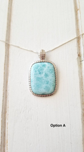 Load image into Gallery viewer, Cushion Rectangle Larimar necklace