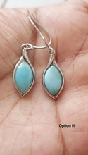 Load image into Gallery viewer, Marquis Larimar earrings