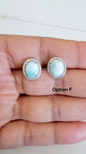Load image into Gallery viewer, Cz Halo Larimar studs