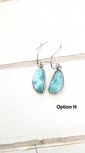 Free form Larimar earrings
