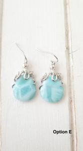 Larimar Octopus earrings
