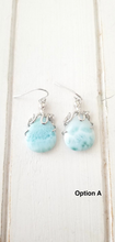 Load image into Gallery viewer, Larimar Octopus earrings