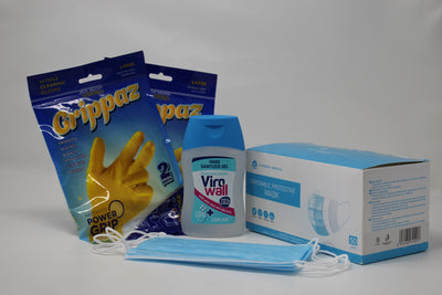 Mini PPE Kit Masks, Gloves & Sanitizer