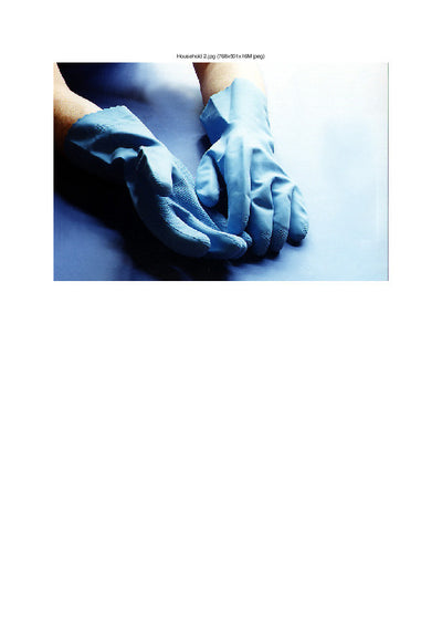 Handie Household Gloves Blue (12 pairs)
