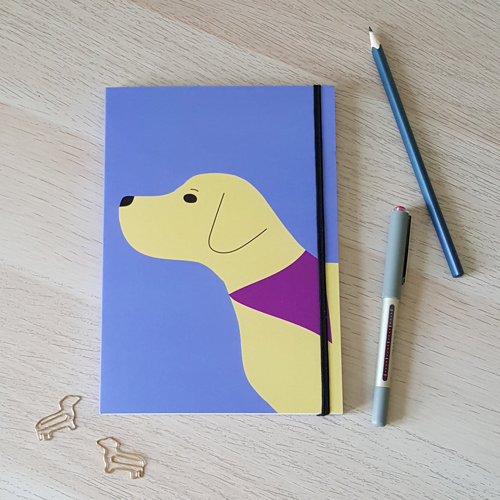 Yellow Labrador Notebook