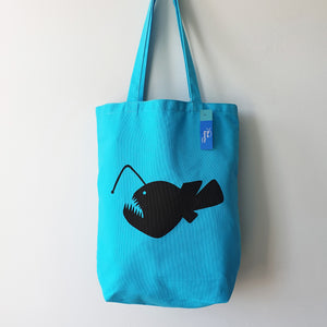 Angler Fish canvas tote bag