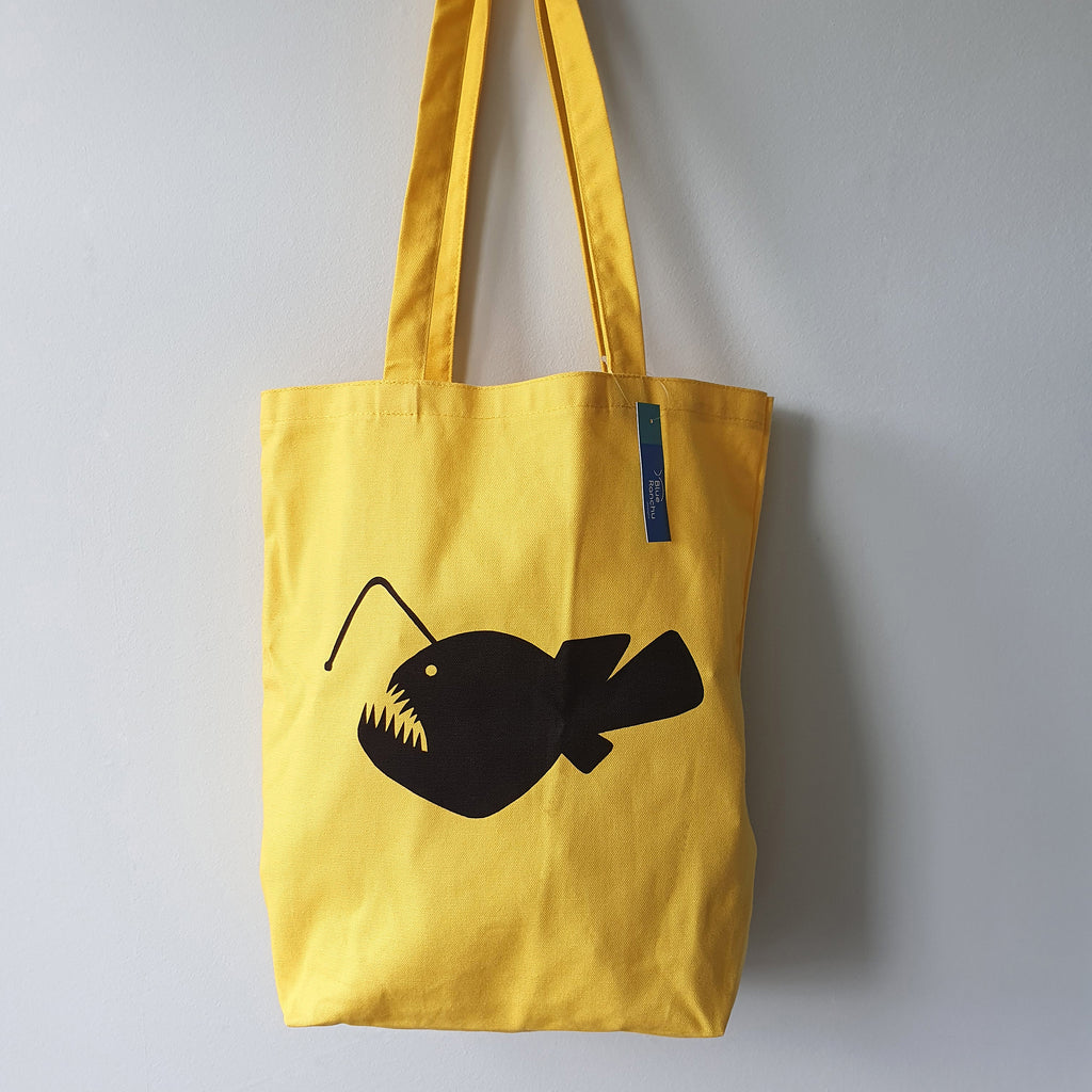 Yellow Angler Fish Tote bag