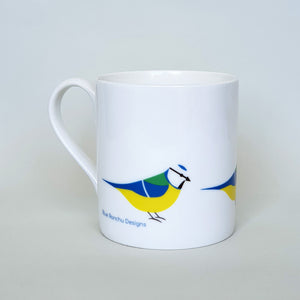 Blue Tit bone china mug
