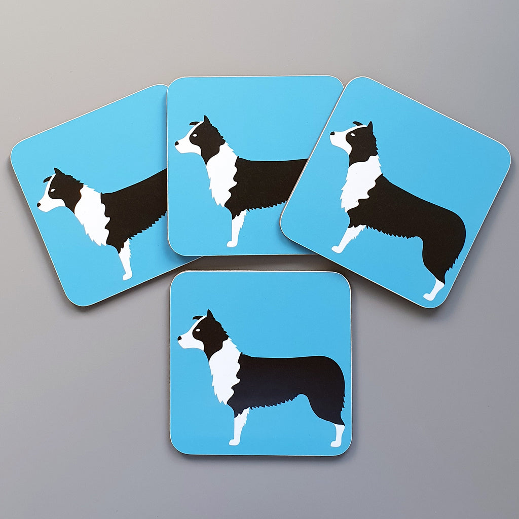 Border Collie Coaster Set of 4