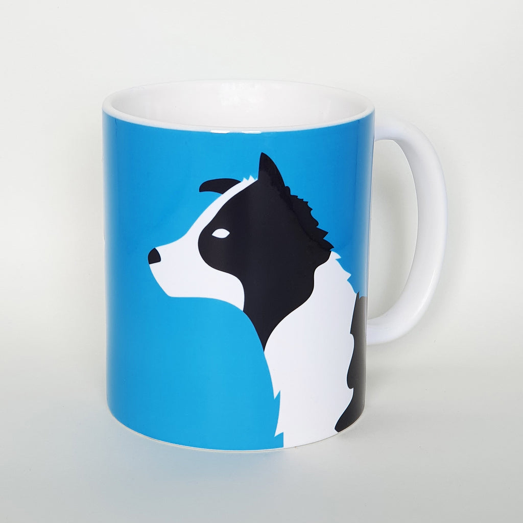 Border Collie earthenware mug