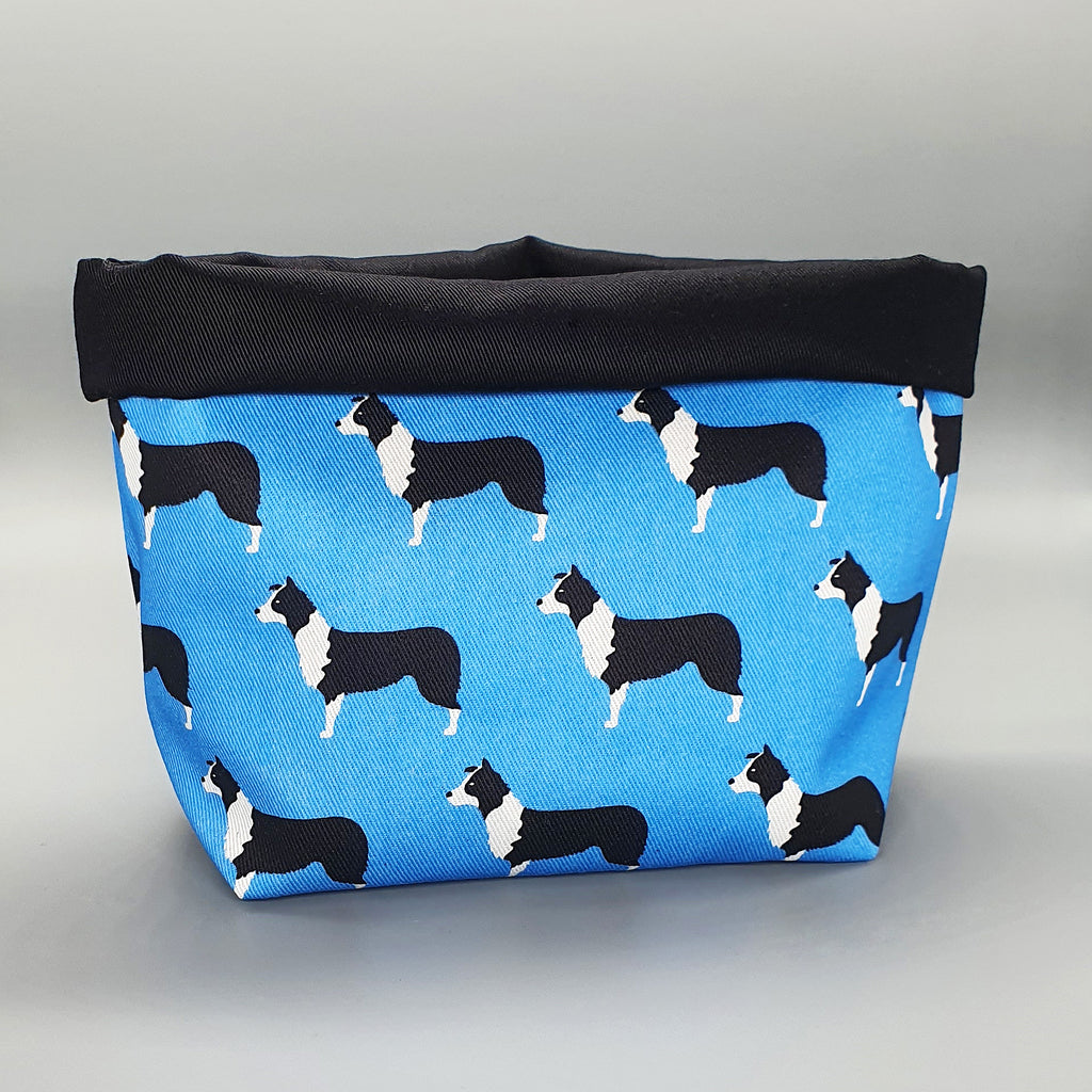 Handmade Border Collie Fabric Storage Basket